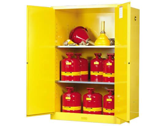 899000-justrtie-safety-cabinet ארון בטיחות justrite 90 גלון עם שתי דלתות