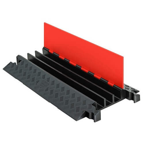 מגן-כבלים-תעלת-דריכה-דגם-Guard-Dog-צבע-כתום-שחור-3-תעלות-תוצרת-checkers